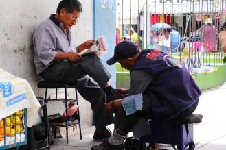 Schuhputzer in Arequipa