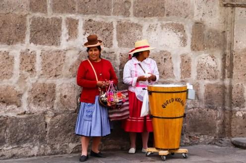 Queso Helado Verkäufer in Arequipa