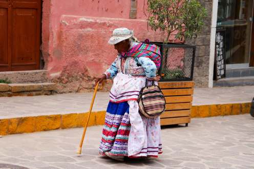 Alte Quechua Frau in Chivay