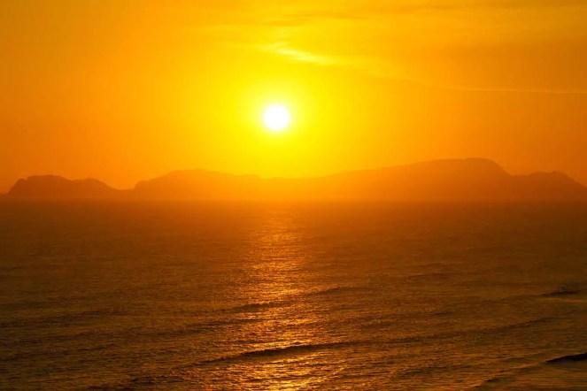 Goldener Sonnenuntergang Lima