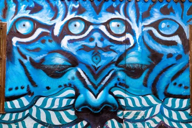 Graffiti auf der 28 de Julio Straße in Lima