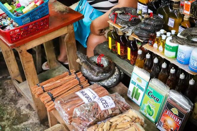 Hexenmarkt in Belen Iquitos