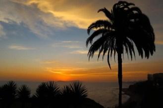 Sonnenuntergang Costa Verde Lima