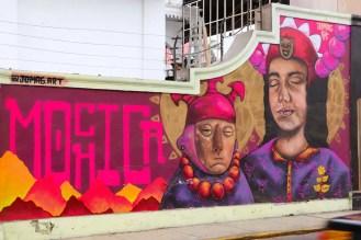 Streetart auf der 28 de Julio Straße in Barranco Lima
