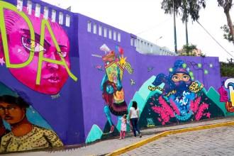 Schöne Street-Art Ermita Barranco
