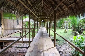 Yacumama Lodge steht auf Stelzen