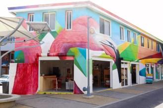 """""""Flamingos"""" Street Art San Nicolas Aruba"""