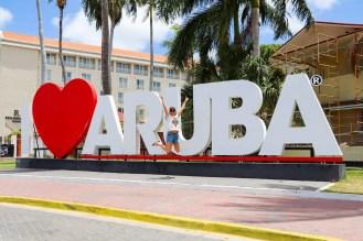 I Love Aruba Sign