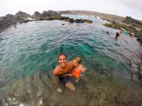 Im Natural Pool auf Aruba