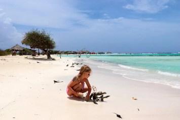 Kind auf Baby Beach