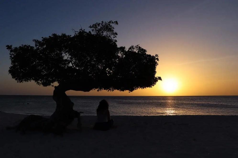 Sonnenuntergang Eagle Beach Aruba