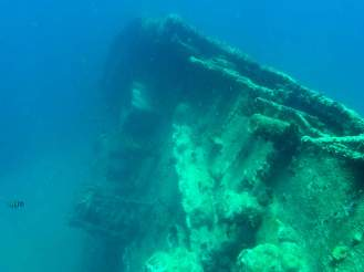 SS Antilla unter dem Wasser