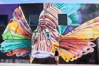 """Feuerfisch"" Street Art San Nicolas Aruba"