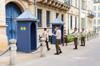 Wachablösung beim Großherzoglichen Palast in Luxemburg