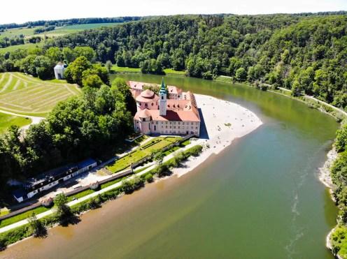 Kloster Weltenburg vom Aussichtspunkt