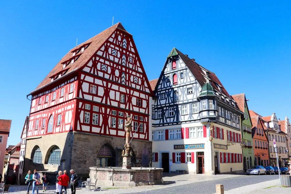 Fleisch- und Tanzhaus, Marien-Apotheke Rothenburg