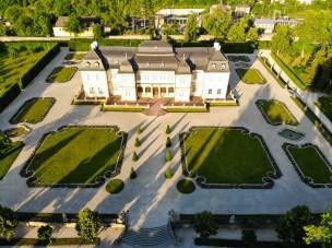 Schloss Veitshöchheim aus der Luft