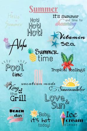 Story Sticker Summer / Sommer