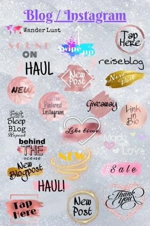 Blog / Blogger / Instagram Story Sticker