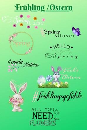 Frühling Ostern Story Sticker