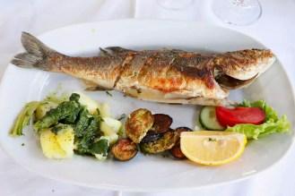 Gegrillter Fisch Restaurant Bazar