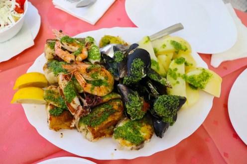 Gemischter Fischteller Restaurant Amfora