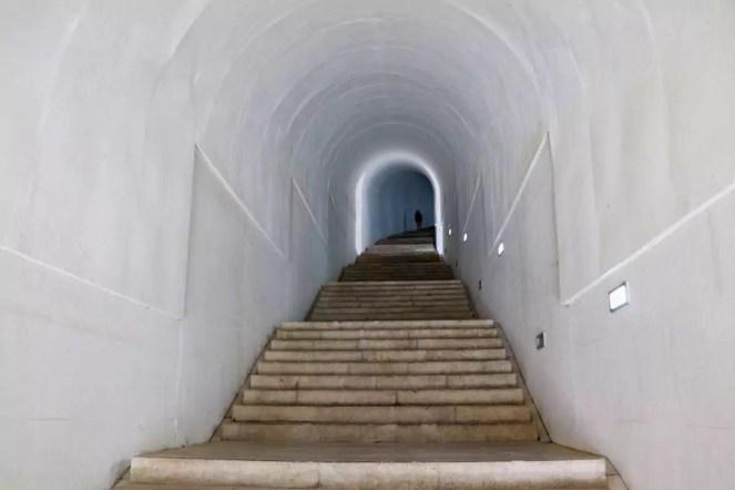 Treppe zum Mausoleum von Petar II. Petrović Njegoš
