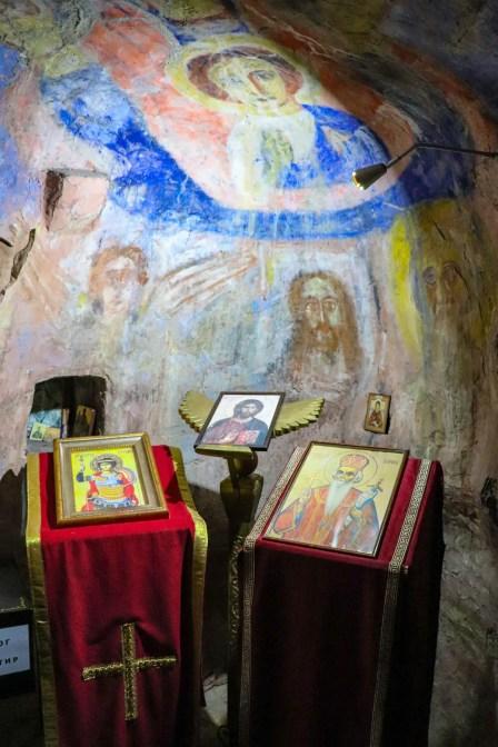 Wandmalerei im Kloster Dajbabe