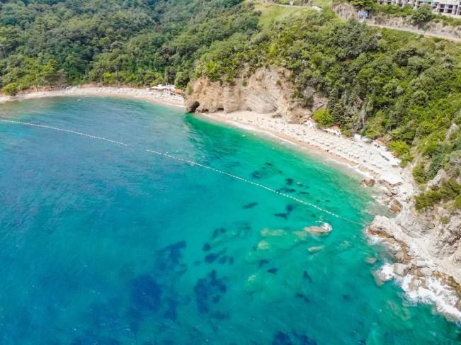 Mogren Beach aus der Luft