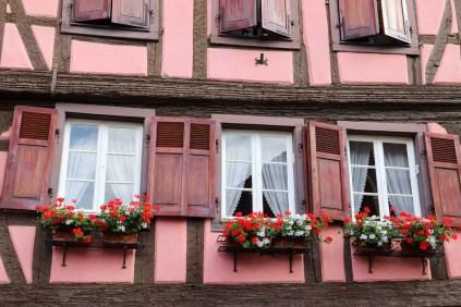 Dekoriertes Fenster Turckheim