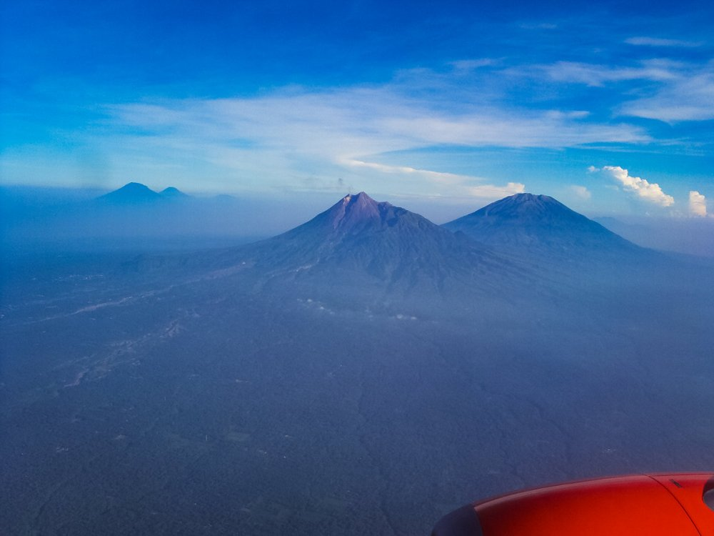 Vulkane Java Flugzeug