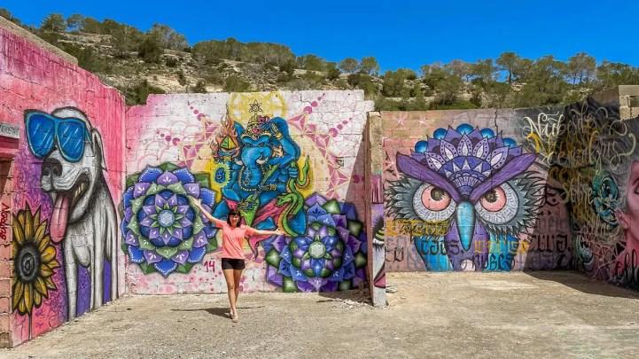 Graffitis Cala D'en Serra