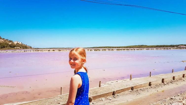 Salzbecken von Ses Salines auf Ibiza