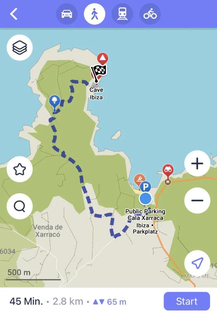 Wanderweg von Cala Xarraca zur Höhle Cova de Llevant