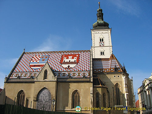 The unusual Church of St Mark, Zagreb, Croatia