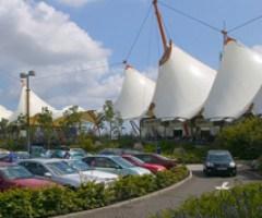 Stunning white tents of Ashford Designer Outlet