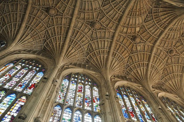 Fan vaulting on the Kings College Chapel ceiling