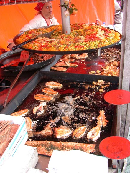 Delicious food in the Market Square - Helsinki