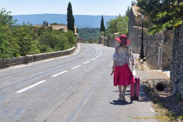 Karina on the road to Gordes