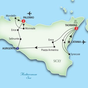 Tour Route of Sicily