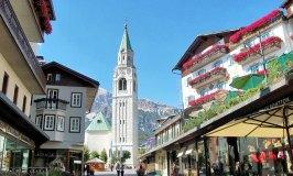 Cortina d'Ampezzo town centre