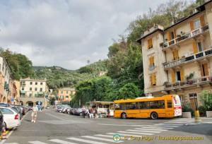 Bus stop in Portofino