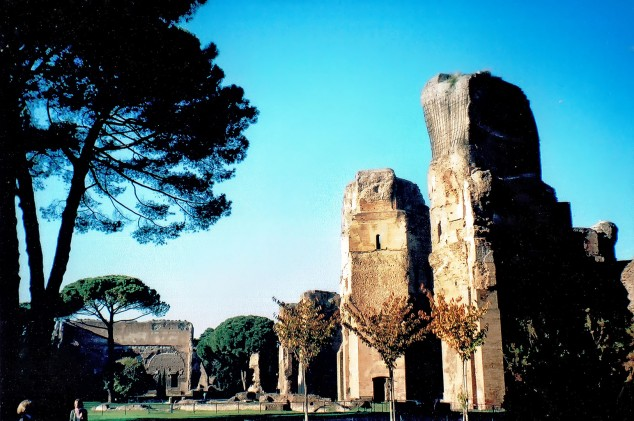 Overlooking the Baths of Caracalla, Rome