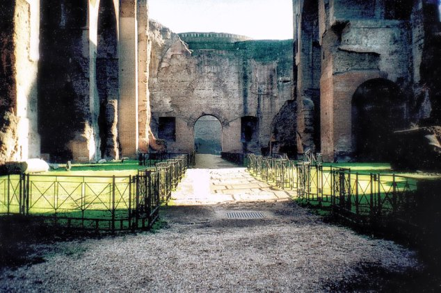 Interior of the Baths of Caracalla in Rome