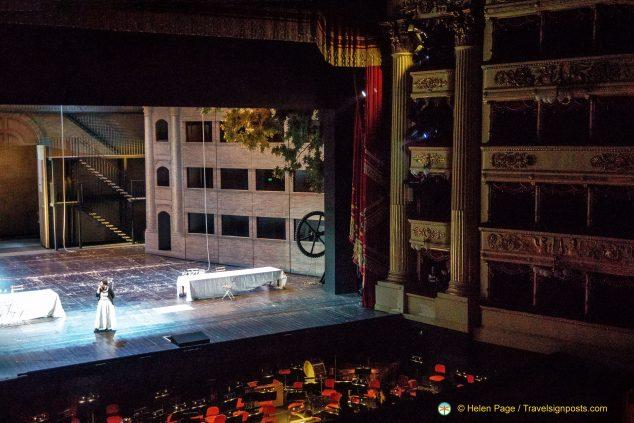 Dress rehearsal at La Scala, Milan