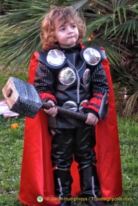 "People of all ages take part: here's a ""mini Thor"""