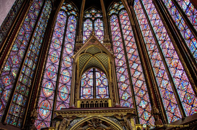 Sainte-Chapelle's stained glass windows