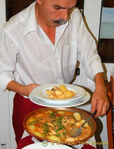 Cataplana being served