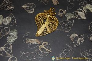 Heart-shaped Gold Filigree, Oporto Shopping