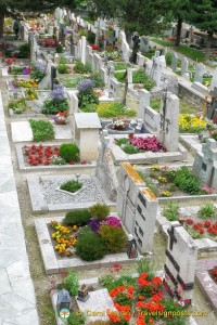 Hikers' Cemetery in Zermatt